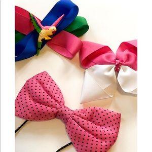Vintage Pink Hair Bow Bundle